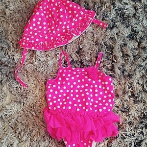 Old Navy Bathing Suit With Matching Sun Hat